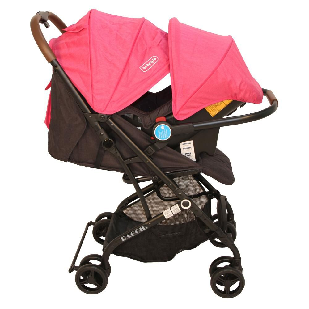 Coche Travel System Compacto Bebeglo RS-13785-2 Fucsia image number 7.0