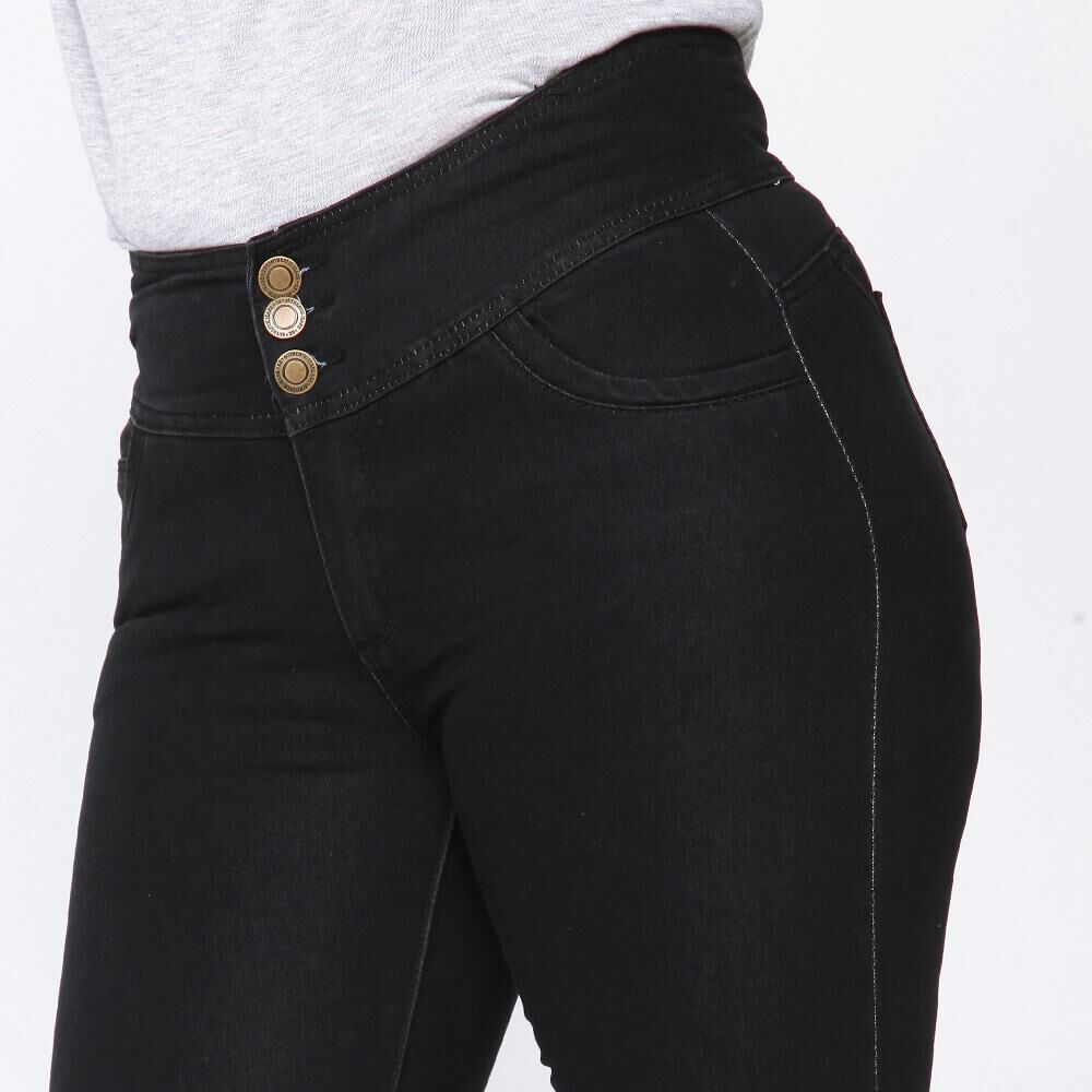 Jeans Mujer Tiro Alto Recto Push up Sexy large image number 3.0