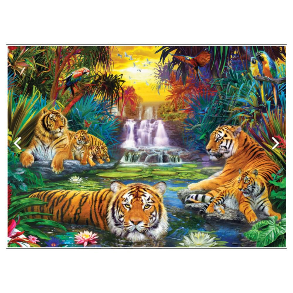 Puzzle Eurographics 8500-5457 Tiger's Eden By Jan image number 1.0