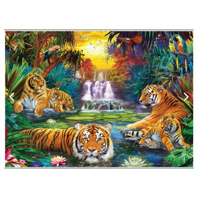 Puzzle Eurographics 8500-5457 Tiger's Eden By Jan