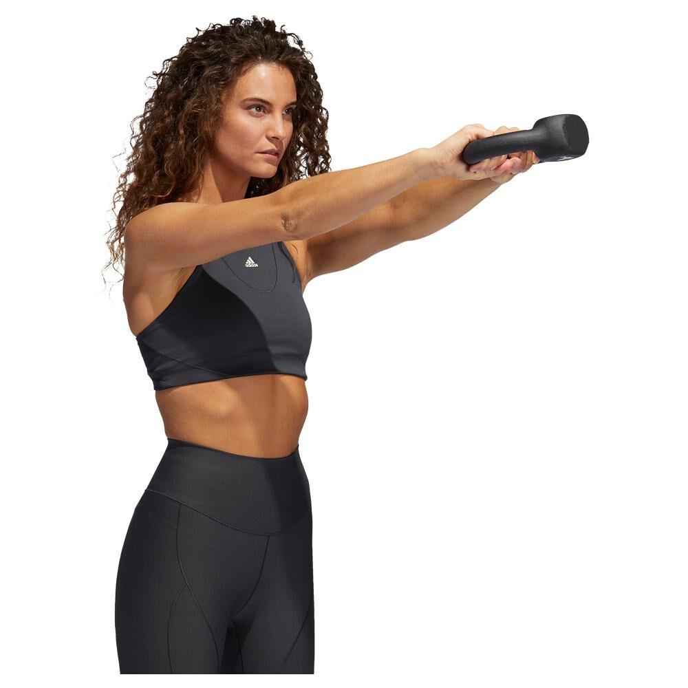 Peto Deportivo Mujer Adidas Medium Suport Yoga Bra image number 1.0