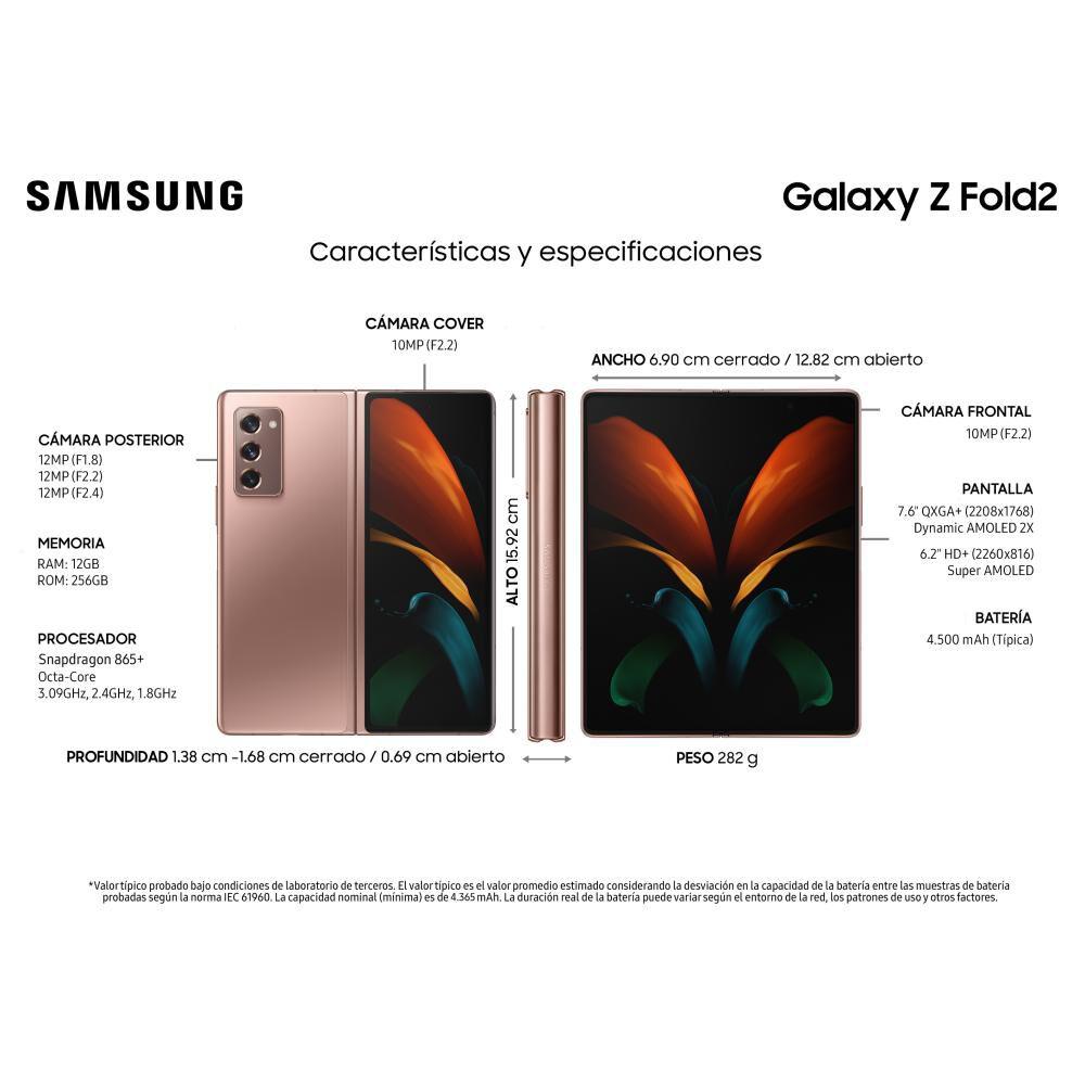 Smartphone Samsung Galaxy Z Fold 2 Mystic Bronce / 256 Gb / Liberado image number 8.0