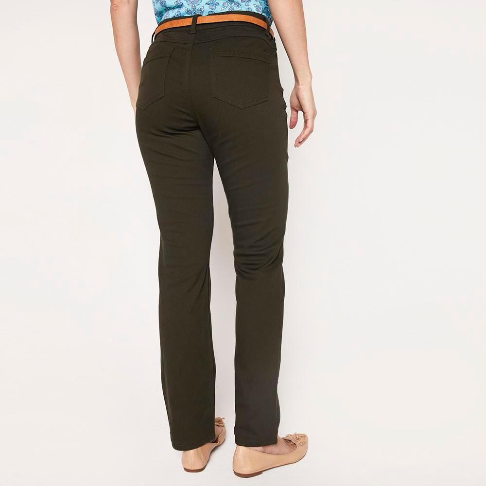 Jeans Recto Con Cinturon Mujer Geeps image number 2.0