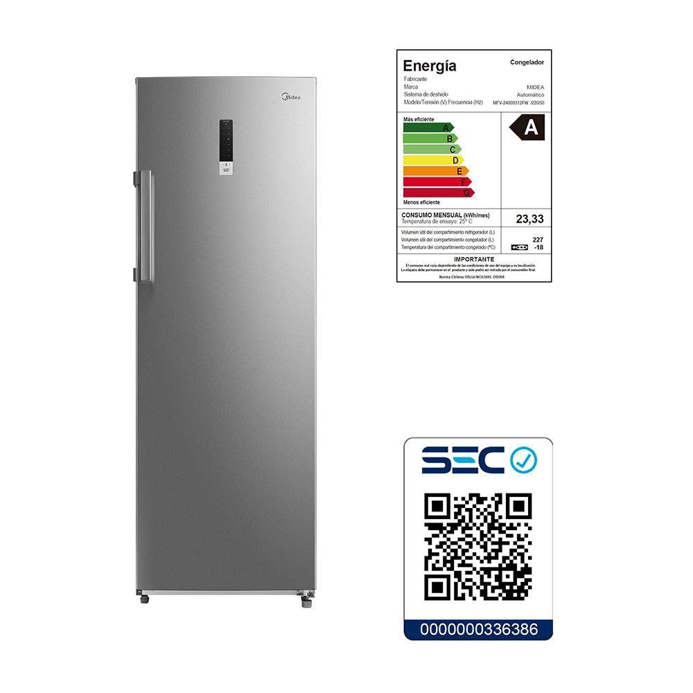 Freezer Vertical Midea MFV-2400S312FW / No Frost / 227 Litros image number 5.0