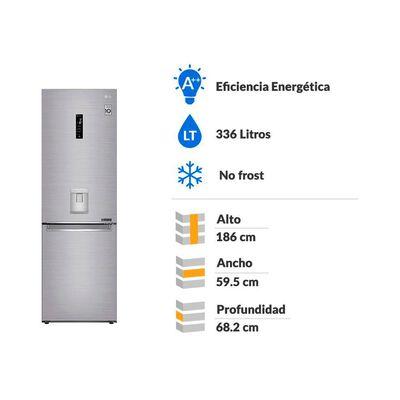 Refrigerador Bottom Frezer LG GB37SPP / No Frost / 336 Litros
