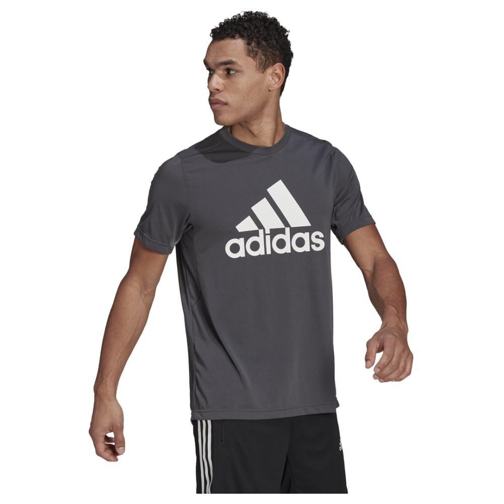 Polera Hombre Adidas D2m Feelready Logo T-shirt image number 1.0