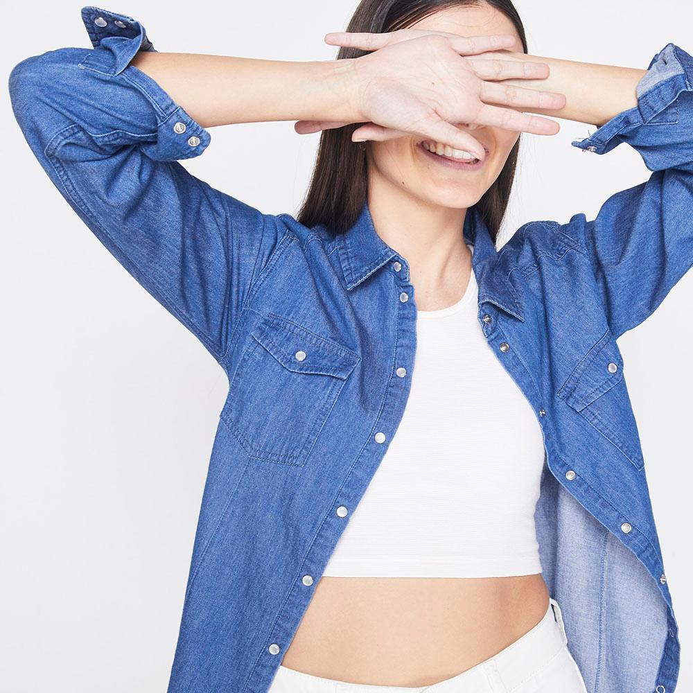 Blusa Mezclilla Mujer Freedom image number 3.0