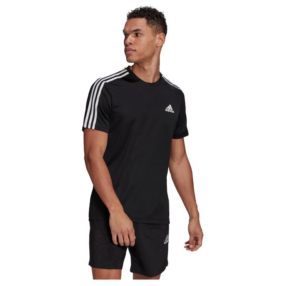 Polera Hombre Adidas D2m 3 Stripes image number 0.0