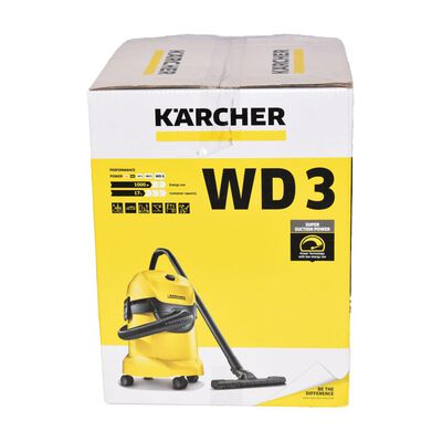 Aspiradora Industrial Karcher Wd3 / 17 Litros