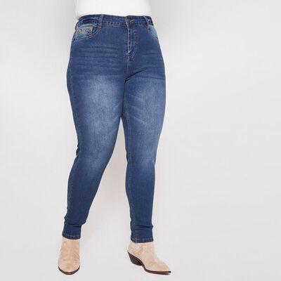 Jeans Mujer Tiro Alto Skinny Push Up Sexy Large