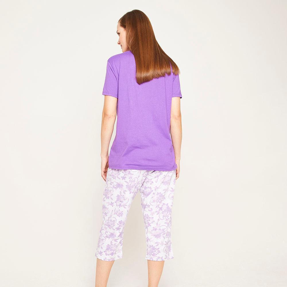 Pijama Capri Manga Corta Mujer Lesage image number 2.0