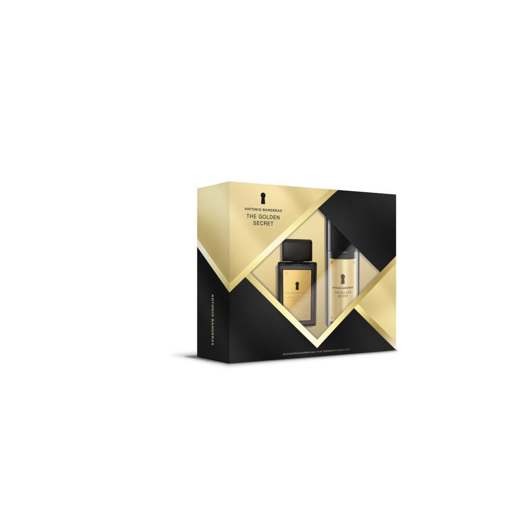Perfume The Golden Secret Antonio Bandera / 50 Ml / Eau De Toillete + Desodorante image number 0.0