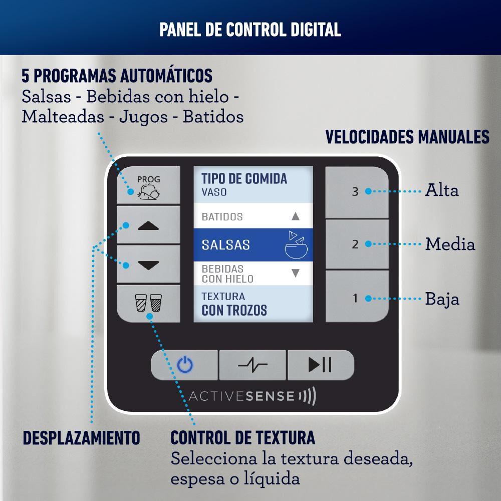 Licuadora Oster Silver Active Sense / 2 Litros image number 6.0