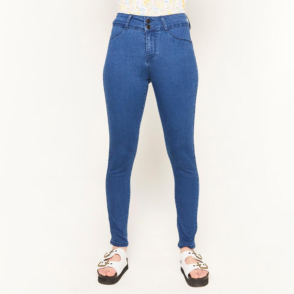 Jeans Tiro Alto Push Up Mujer Freedom image number 0.0