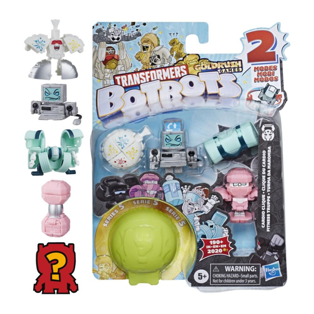 Figura De Accion Transformers Botbots 5pk Gym image number 0.0