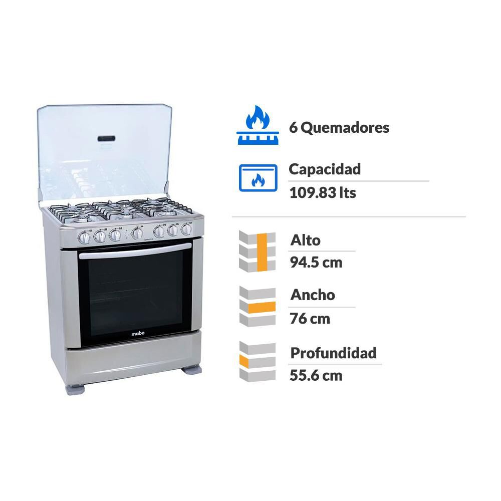 Cocina Mabe ANDES76HG0 / 6 Quemadores image number 1.0