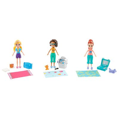 Mini Muñeca Polly Pocket Pack 3 Muñecas