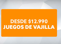 JUEGOS DE VAJILLA Desde 12.990 hites.com