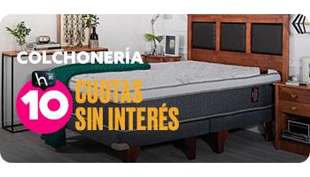 COLCHONERÍA 10 CUOTAS SIN INTERÉS en hites.com