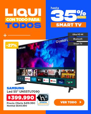 Especial liqui Smart tv en hites.com