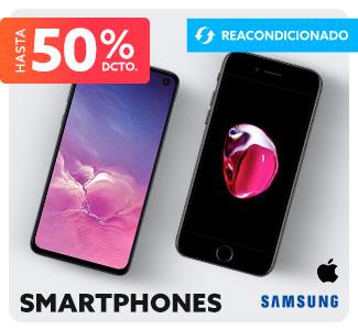 SMARTPHONES REACONDICIONADOS Hasta 60% dcto.