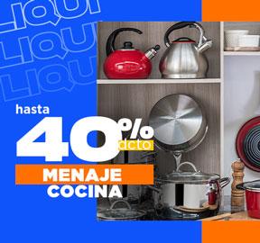 MENAJE COCINA Hasta 50% dcto