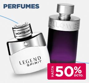 PERFUMES HASTA 50% DCTO