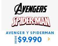 AVENGER + SPIDERMAN DESDE $9.990 | Lo mejor esta en hites.com