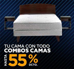 TU CAMA CON TODO COMBOS CAMAS HASTA 50% DCTO
