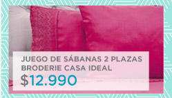 Juego de Sábanas 2 plazas Broderie casa ideal $ 12.990 en hites.com