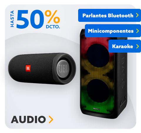 AUDIO PARLANTES BLUETOOTH, MINICOMPONENTES, KARAOKE HASTA 50% DCTO en Hites.com