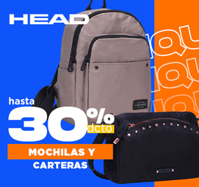 HEAD Mochilas y carteras 30% dcto