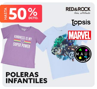 POLERAS INFANTILES Hasta 50% dcto. en hites.com