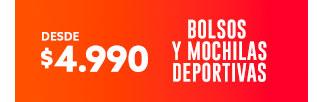 BOLSOS Y MOCHILAS DEPORTIVAS DESDE $4.990