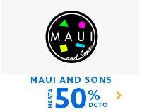 MAUI AND SONS HASTA 50% DCTO  | Lo mejor esta en hites.com