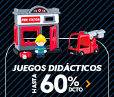 JUEGOS DIDACTICOS HASTA 60% DCTO