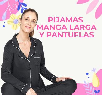 PIJAMAS MANGA LARGA Y PANTUFLAS
