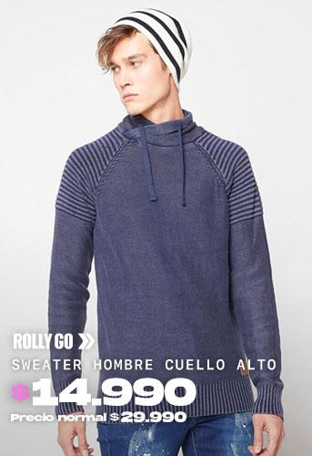 SWEATER HOMBRE CUELLO ALTO