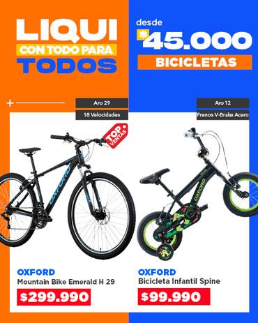 Especial liqui bicicletas en hites.com