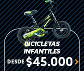 BICICLETAS INFANTILES DESDE $45.000