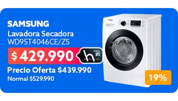 Lavadora Secadora WD95T4046CE/ZS en hites.com