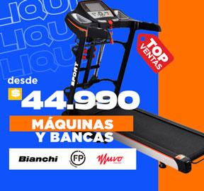 MÁQUINAS Y BANCAS Desde $44.990