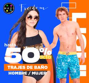TRAJES DE BAÑO Hombre / Mujer Hasta 68% dcto