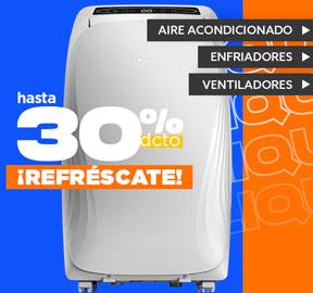 ¡REFRÉSCATE! Hasta 30% dcto Aire acondicionado, enfriadores y ventiladores