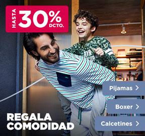 REGALA COMODIDAD PIJAMAS, BOXER Y CALCETINES HASTA 50% DCTO
