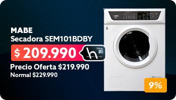 Secadora SEM101BDBY