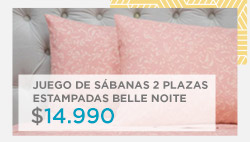 Juego de Sábanas 2 plazas Estampadas Belle Noite $ 12.990 en hites.com
