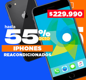IPHONE Reacondicionados Hasta 50% dcto