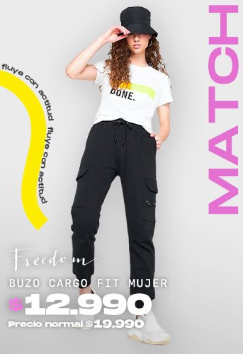 BUZO CARGO FIT MUJER