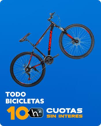 TODO BICICLETAS 10 CUOTAS SIN INTERÉS